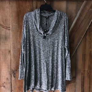 NWT Cable & Gauge grey cowl neck sweater 2X
